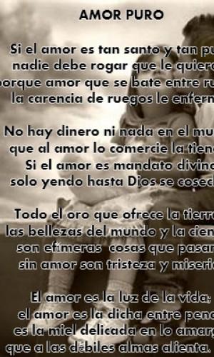 Poema Amor Puro Por Carlos Zuluaga Poematrix