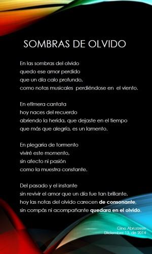 Poema Sombras De Olvido Por Ginus Poematrix